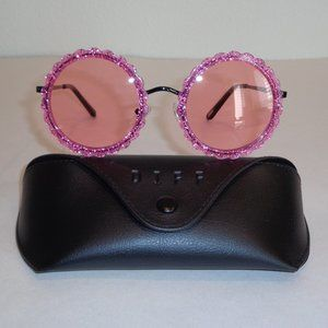 Diff Eyewear DIXIE Pink Glitter New Sunglasses
